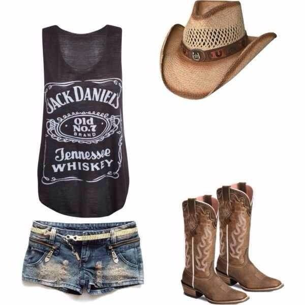 Definitely an adorable country music concert outfit!