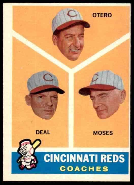 1960 TOPPS CINCINNATI REDS COACHES #459 NM BLR2B1