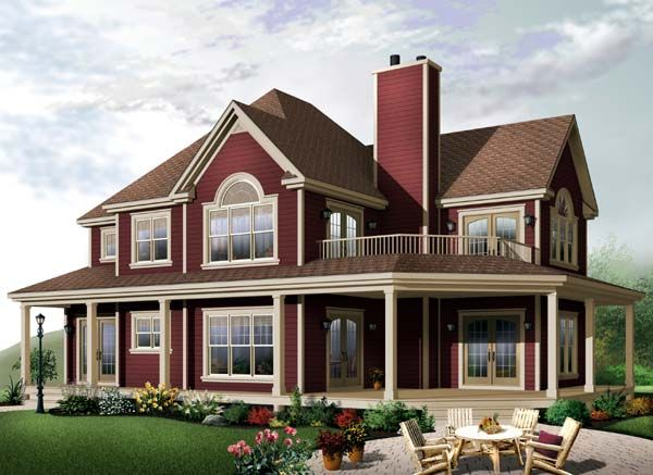 House Plan 65581 | Country Farmhouse Traditional Plan with 2350 Sq. Ft., 4 Bedrooms, 3 Bathrooms, 2 Car Garage at family home plans