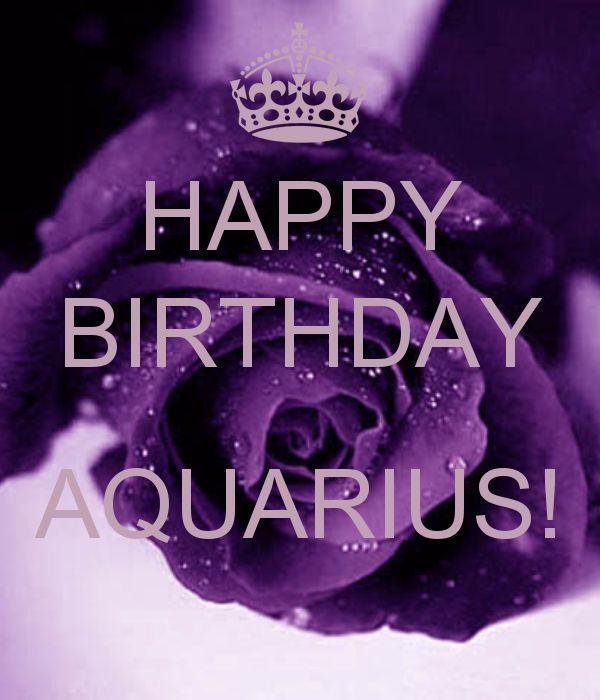 HAPPY BIRTHDAY AQUARIUS! - KEEP CALM AND CARRY ON Image Generator