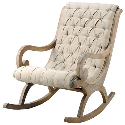 linen and wood rocking chair nursery chair - Rocking Chairs For Nursery