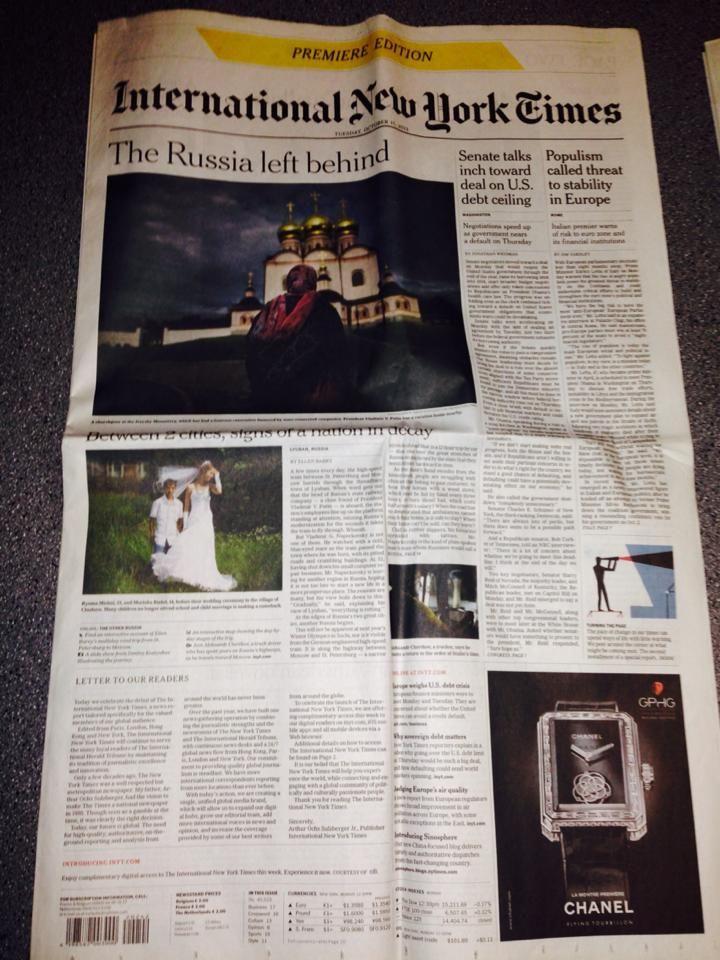 The International New York times
