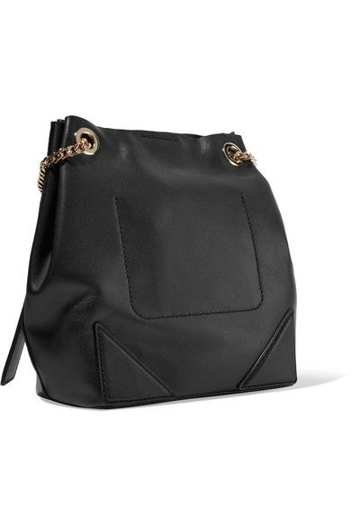 Karl Lagerfeld - K/slouchy Leather Tote Bag - Black - one size