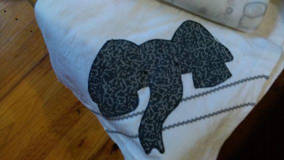beautiful cot set flannelette sheet and polar fleece by NicsCraft