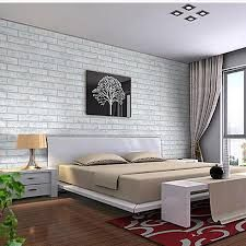 best brick wallpaper bedroom pictures - awesome house design