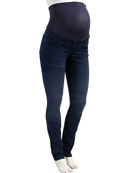 Maternity Full-Panel The Rockstar Super Skinny Jeans | Old Navy