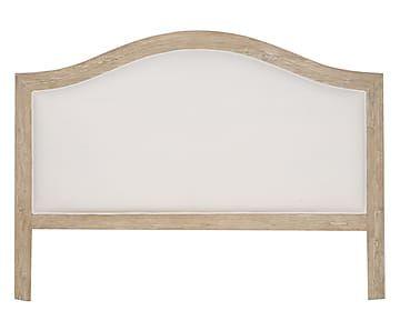 Testiera matrimoniale in legno di quercia e cotone, 160x120x8 cm