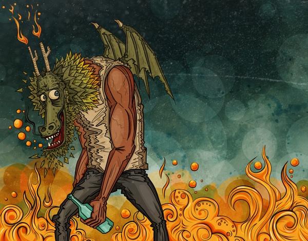 Becoming the dragon by Cristian Rios, via Behance