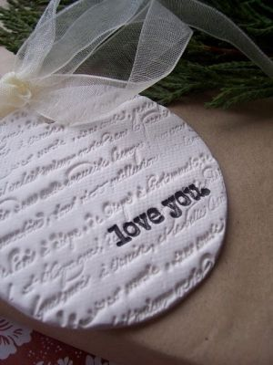 Salt Dough ornament favor. Stamp with date of wedding.