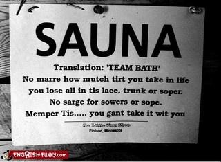 sauna sign by kaleva_1824, via Flickr