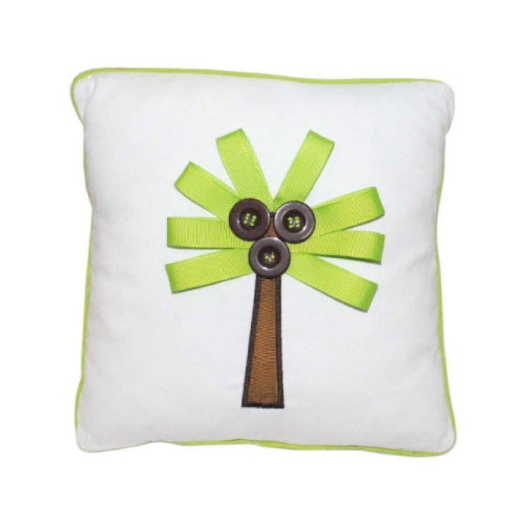 Palm Tree Pillow http://www.thenavyknot.com/decorative-pillows-turtle-pillow-fish-pillow-and ...
