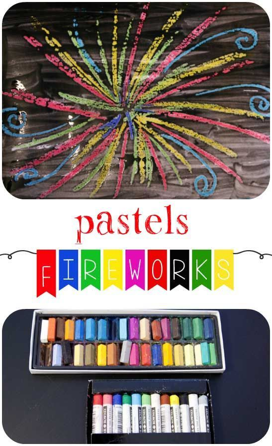 Frog in a pocket: Exploring Pastel Crayons - Fireworks Pictures.