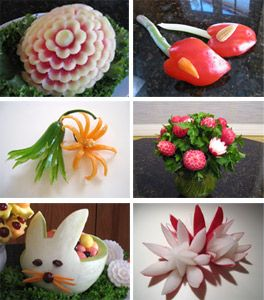 more fruit carvings taught in fruit carving 101 class. Pinned by AKT vegetablefruitcarving.com