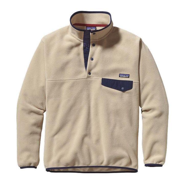 Patagonia M\'s Synchilla\u00AE Snap-T\u00AE Fleece Pullover - El Cap Khaki ELKH