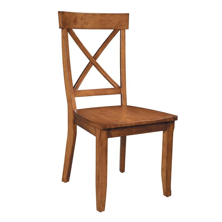 Home Styles Solid Hardwood Side Chair - 2 Chairs - $134.28 @hayneedle.com - In black. Add cushions?