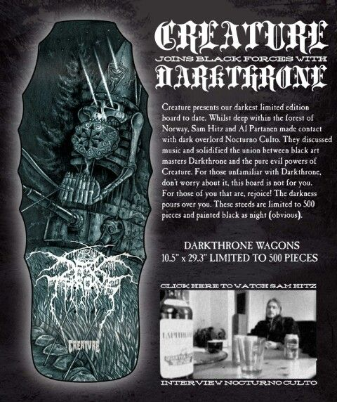 One of my favorite skateboard companies teaming up with my favorite band. Awesome.