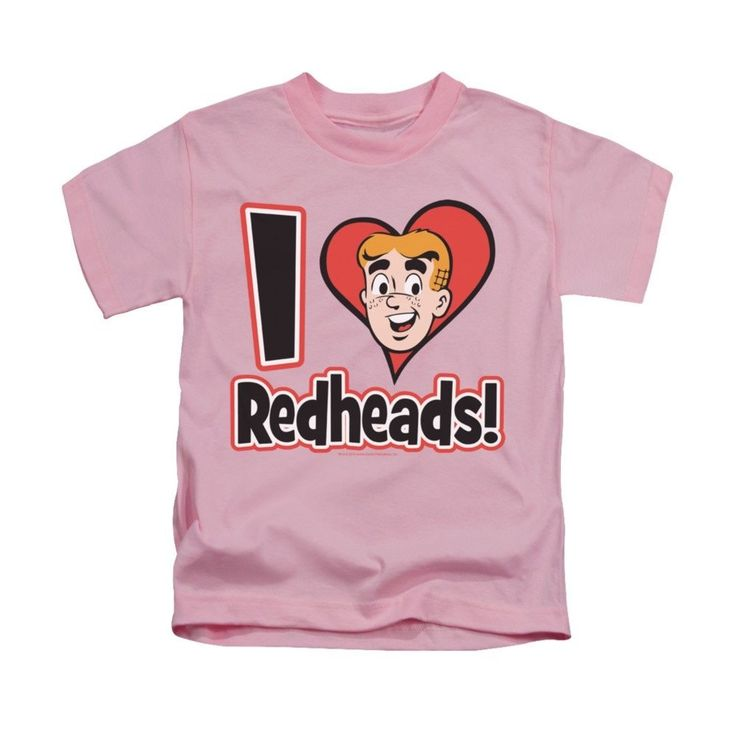 Archie Comics - I Love Redheads Kids T-Shirt