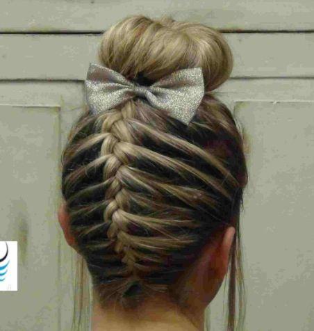 Cheerleading hair style