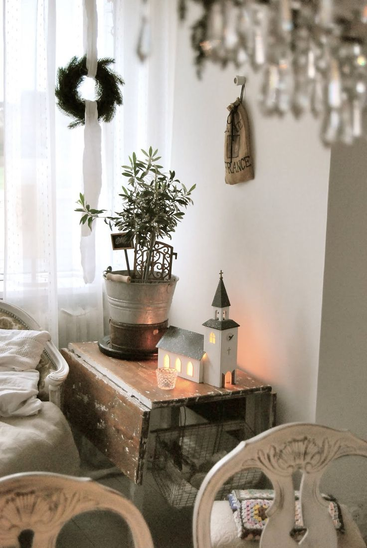 Nordic styling. Wooden Christmas church. ~ Lovingly repinned by www.skipperwoodhome.co.uk