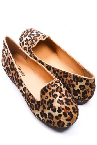 Leopard Print smoking flats:-)