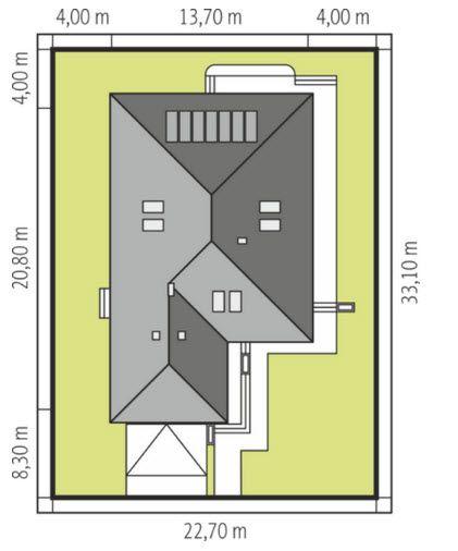 บ้านหลังนี้ออกแบบให้มีพื้นที่ใช้สอยประมาณ 131 ตารางเมตร