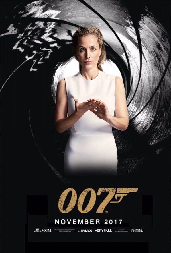 It's Bond, Jane Bond: Gillian Anderson throws hat into the ring to be next 007. Star of The X-Files and The Fall puts herself into the running – alongside Tom Hiddleston, Idris Elba and Damian Lewis – with Twitter poster
