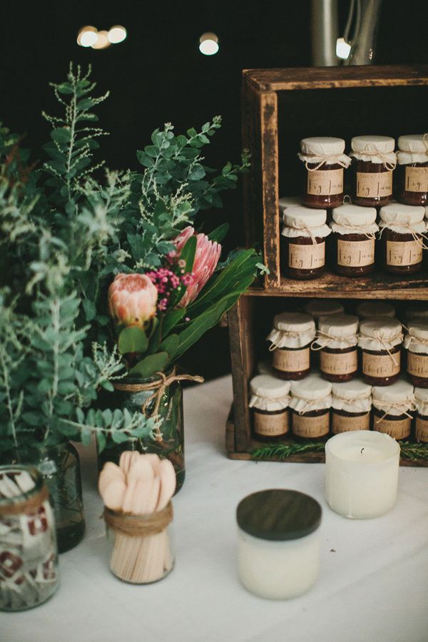 wedding favors in jars // photo by Shane Shepherd // http://ruffledblog.com/byron-bay-farm-wedding