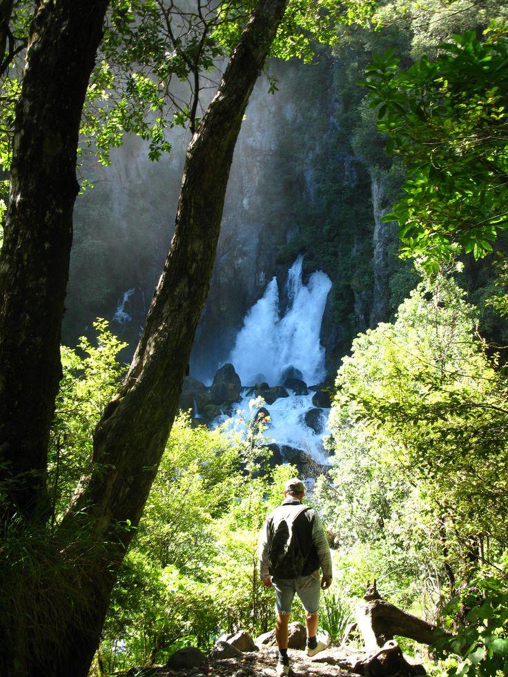 Tarawera waterfall, New Zealand