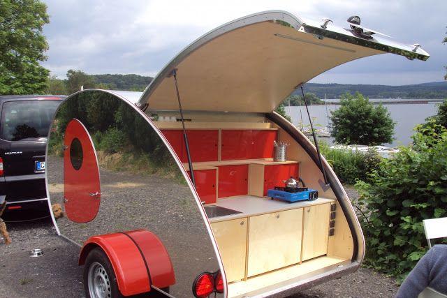 "Neuer Teardrop Caravan ""Made In Germany"" von Kaiser Fahrzeugbau GmbH http://www.kleinewohnwagen.de/2016/01/teardrop-caravan.html"