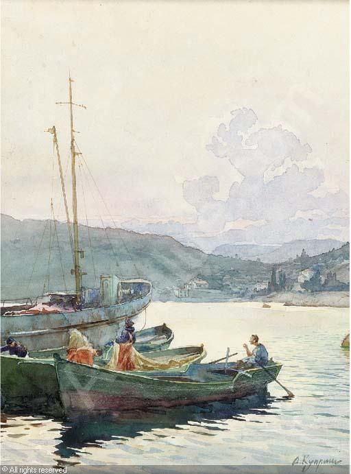 Boats in Crimea . Aleksandr Kuprin