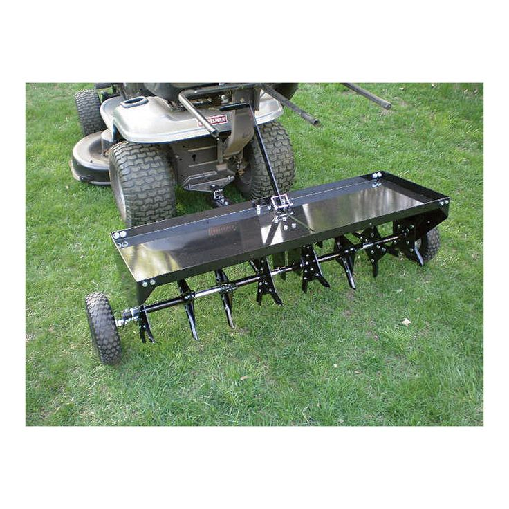 Yard Tuff TowBehind Plug Aerator get water and