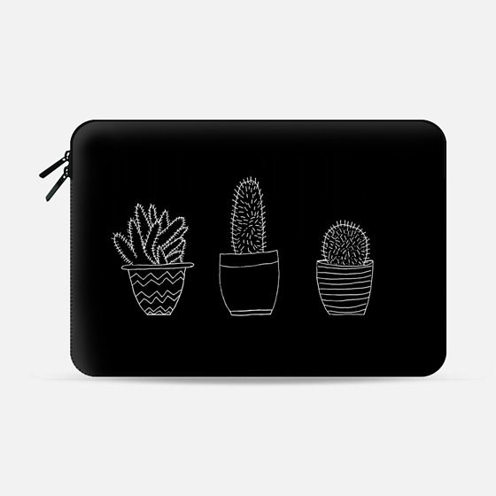 Black Cacti (Macbook Sleeve) - Macbook Sleeve