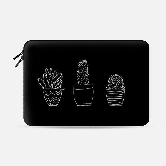 Black Cacti (Macbook Sleeve) - Macbook Sleeve
