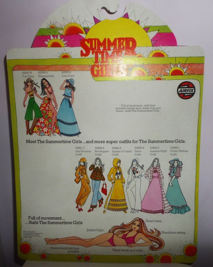 Boxed carded Summertime Girls Airfix Sunnin outfit RARE like Barbie Doll Vintage | eBay