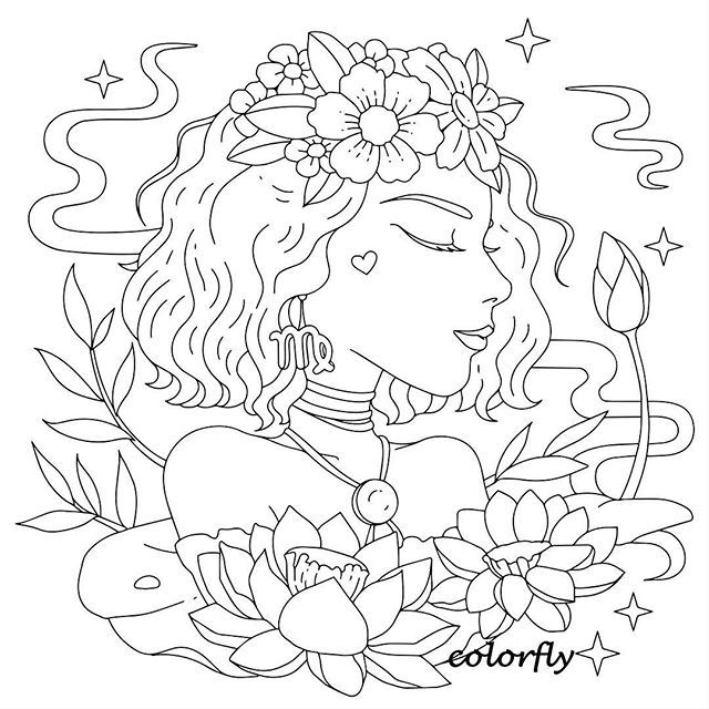 Colorfly Freebie Shes Like A Sunset Back In Florida And A Top Down Summer Breeze You Should Absolu Fairy Coloring Pages Free Coloring Pages Coloring Pages