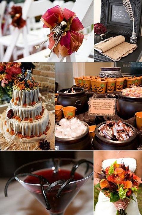 halloween wedding reception idea - Halloween Wedding Decor