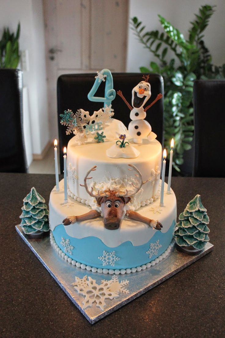 frozen cake, Olaf, Sven