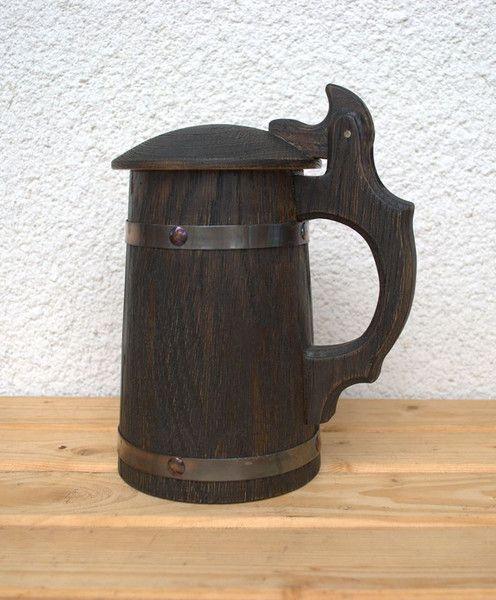 Other – Wooden Beer Mug 0.7 l (23oz), natural wood. – a unique product by LyubovLyubov on DaWanda