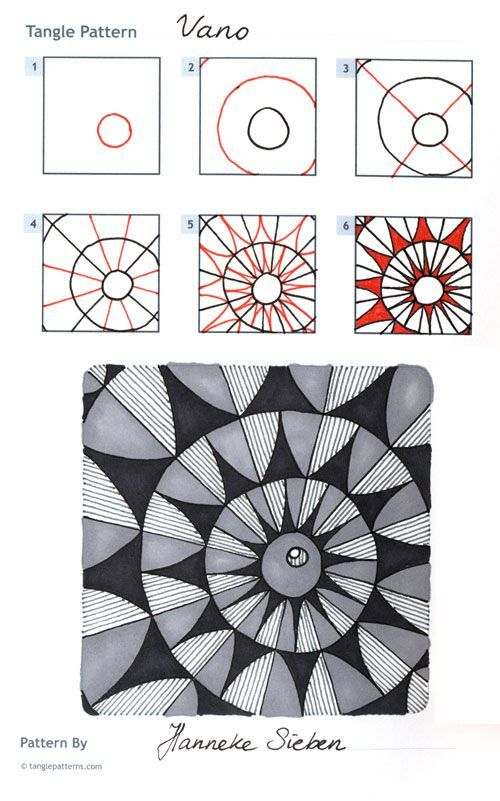 "Diamond panes"" zentangle pattern instructions | camp | pinterest."