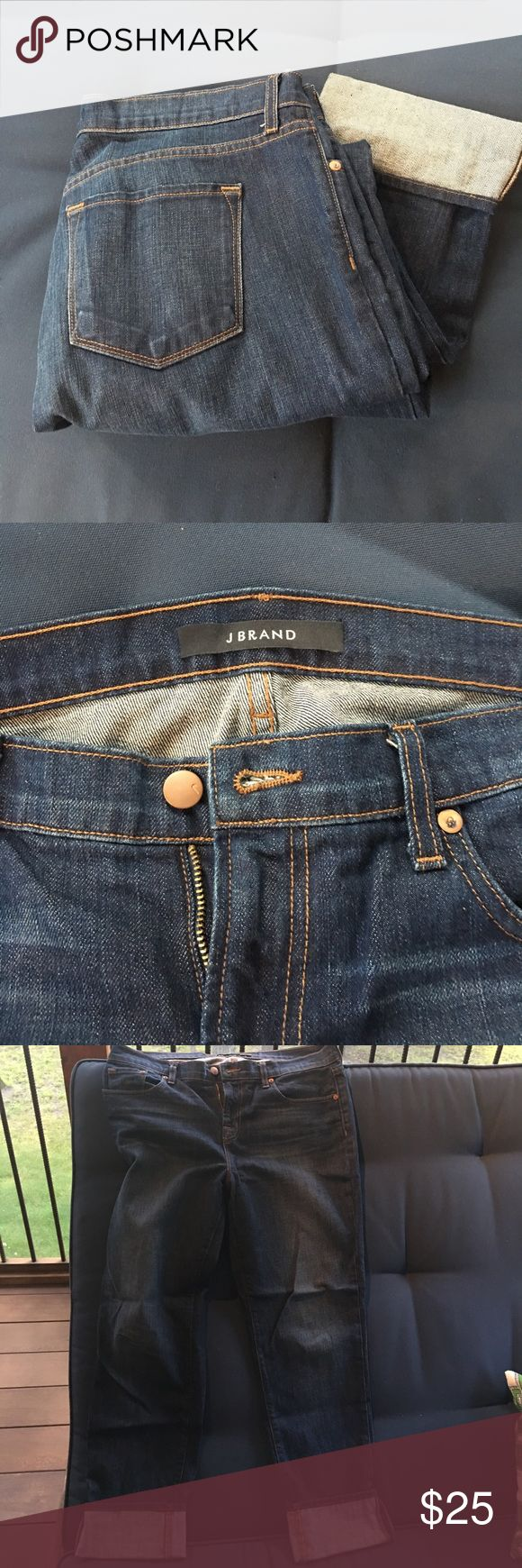 J Brand jeans J Brand jeans, dark wash, size 30, lightly used J Brand Jeans Straight Leg