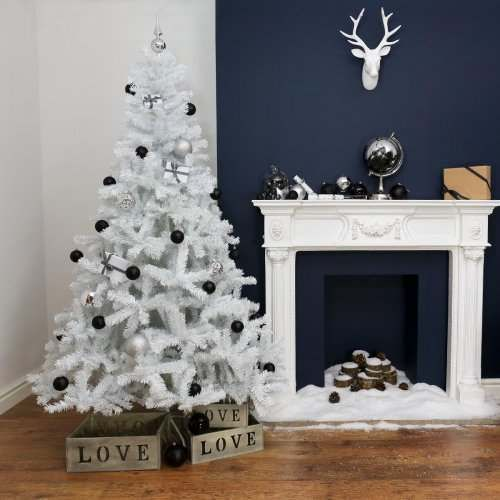 White Artificial Christmas Tree, 6ft or 7ft