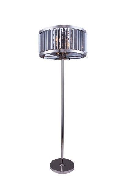 """1203 Chelsea Collection Floor Lamp D:25"""" H:72"""" Lt:6 Polished nickel Finish (Royal Cut. 1203 Chelsea Collection Floor Lamp D:25"""" H:72"""" Lt:6 Polished nickel Finish (Royal Cut Silver Shade Crystals)  Watts: Lumens: Lamp Type: Shape: Style:Transitional Light Bulbs:6 Bulb Type:E12 Bulb Wattage:60 Max Wattage:360 Voltage:110V-125V Finish:Polished nickel Crystal Trim:Royal Cut Crystal Color:Silver Shade (Grey) Hanging Weight:120"""