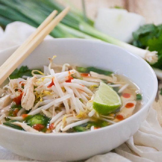 Pho Ga ~ Vietnamese Chicken Noodle Soup | Hearty Soups, Stews, Chili ...