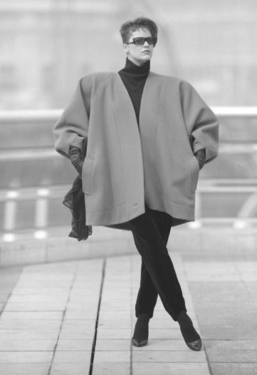 claude montana oversized coat fall 1984