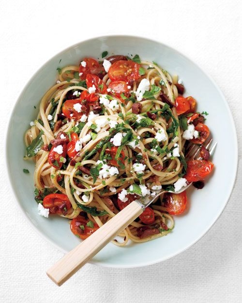 Linguine with Tapenade, Tomatoes, and Arugula: Food Recipes, Mail, Everyday Food, Healthy, Linguini, Cooking, Arugula, Tomatoes Recipes, Tapenade