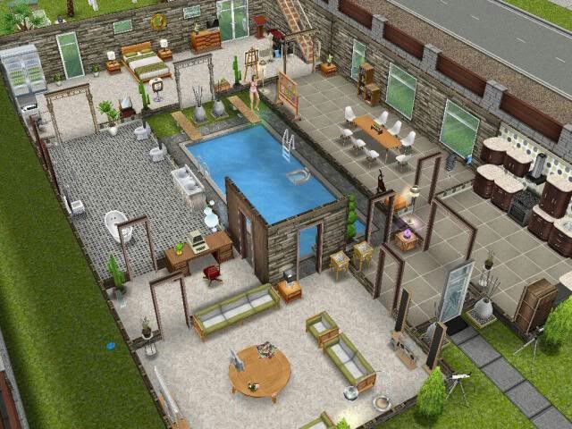 1000 afbeeldingen over sims freeplay house ideas op pinterest huisplattegronden de sims en - Sims freeplay designer home ...