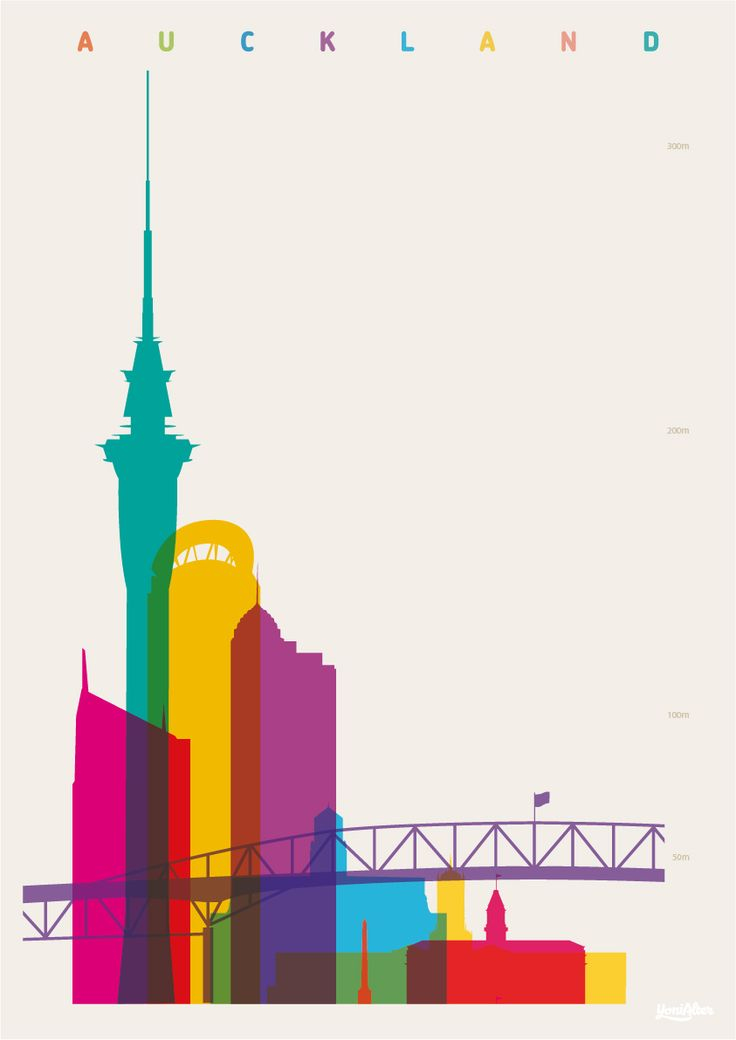 Shapes of Auckland. Accurate to scale.Auckland Harbour Bridge,Lumley Centre,Sky Tower,Vero Centre,Auckland Civic Theatre,Metropolis, University of Auckland Clocktower,One Tree Hill Obelisk,Auckland Ferry Terminal.