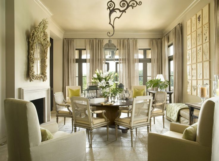 Botanical Green Taupe And Layers Of Texture Interior