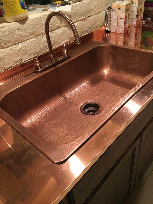 Copper Countertops In 2020 Copper Countertops Diy Granite Countertops Diy Concrete Countertops