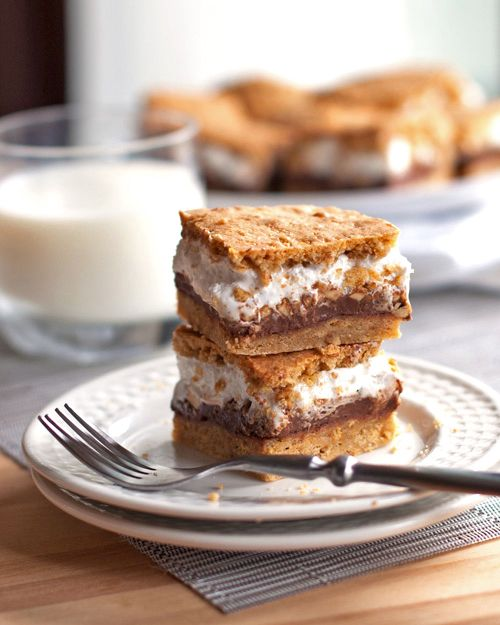 Peanut Butter S'mores Bars!! No Need for Camping!Health Desserts, Health Food, Butter S More, Smores Bar, Peanut Butter Bars, S'Mores Bar, Healthy Desserts, S More Bar, Butter Smores